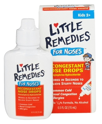 DROPPED: Little Remedies - Decongestant Nose Drops For Noses - 0.5 oz. CLEARANCE PRICED