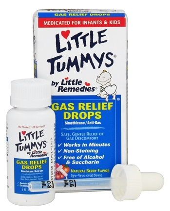 DROPPED: Little Remedies - Little Tummys Gas Relief Drops Berry Flavor - 1 oz. CLEARANCED PRICED
