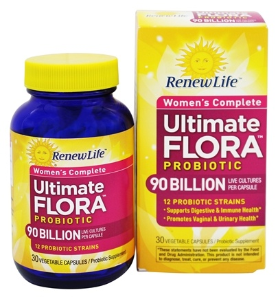 Renew Life - Ultimate Flora Women's Complete Probiotic 90 Billion - 30 Capsules