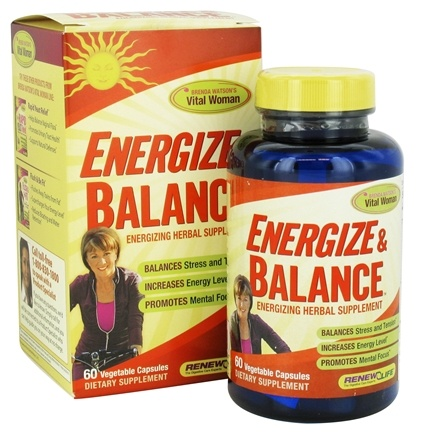 DROPPED: ReNew Life - Energize & Balance - 60 Vegetarian Capsules CLEARANCED PRICED