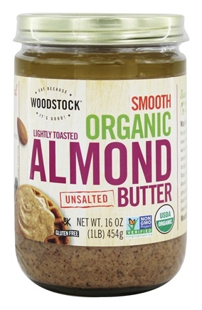 Woodstock Farms - Smooth Organic Lightly Toasted Almond Butter Unsalted - 16 oz.