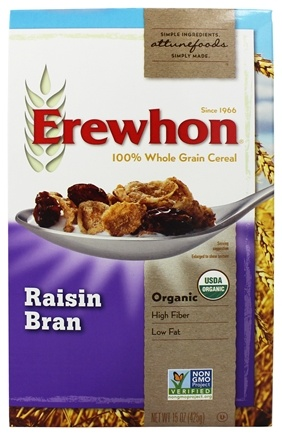 DROPPED: Erewhon - Organic Whole Grain Raisin Bran Cereal - 15 oz.