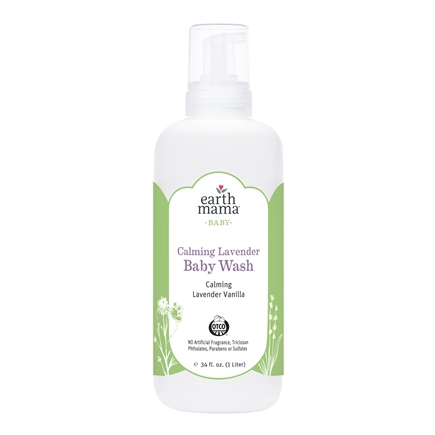 Earth Mama Angel Baby - Body Wash & Shampoo Calming Lavender Vanilla - 34 oz.