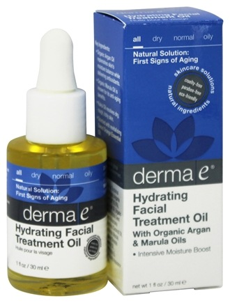 Derma-E - Hydrating Facial Treatment Oil With Organic Argan & Marula Oils - 1 oz.