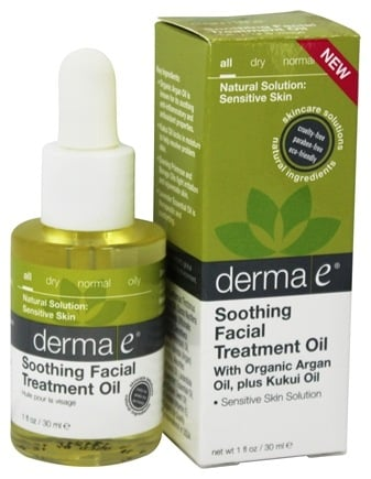 DROPPED: Derma-E - Soothing Facial Treatment Oil With Organic Argan Oil, Plus Kukui Oil - 1 oz.