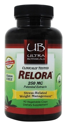 Ultra Botanicals - Relora Patented Extracts 250 mg. - 90 Vegetarian Capsules