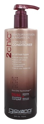 Giovanni - 2Chic Brazilian Keratin & Argan Oil Ultra-Sleek Conditioner - 24 oz.