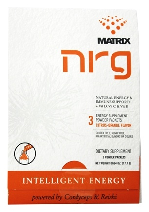 DROPPED: NRG Matrix - Natural Energy & Immune Support Powder Drink Citrus-Orange - 3 Packet(s)