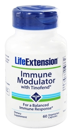 DROPPED: Life Extension - Immune Modulator with Tinofend - 60 Vegetarian Capsules