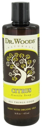 DROPPED: Dr. Woods - Organic Castile Soap Citrus - 16 oz. CLEARANCE PRICED