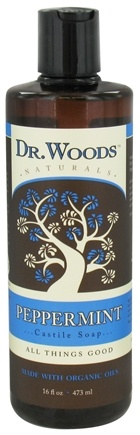 DROPPED: Dr. Woods - Organic Castile Soap Peppermint - 16 oz. CLEARANCED PRICED