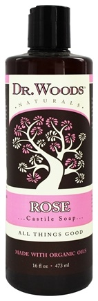 Dr. Woods - Organic Castile Soap Rose - 16 oz.