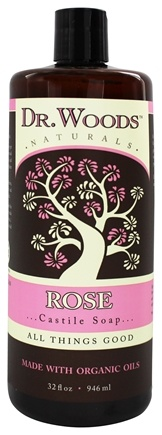 Dr. Woods - Organic Castile Soap Rose - 32 oz.