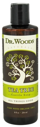 DROPPED: Dr. Woods - Organic Castile Soap Tea Tree - 8 oz. CLEARANCED PRICED