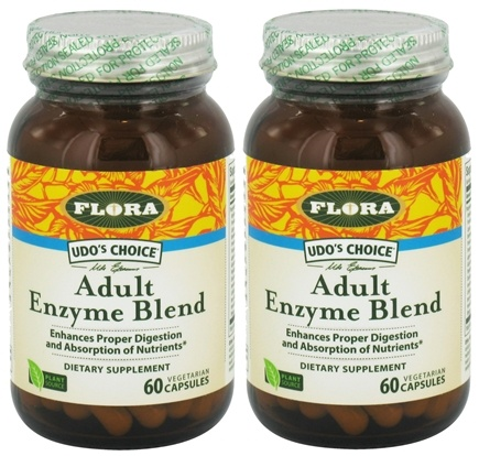 DROPPED: Flora - Udo's Choice Adult Enzyme Blend BOGO Deal 2 x 60 Vegetarian Capsules
