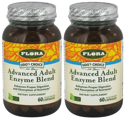 DROPPED: Flora - Udo's Choice Advanced Adult Enzyme Blend BOGO Deal 2 x 60 Vegetarian Capsules