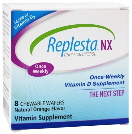 Everidis Health Sciences - Replesta NX Vitamin D Orange 14000 IU - 8 Chewable Wafers