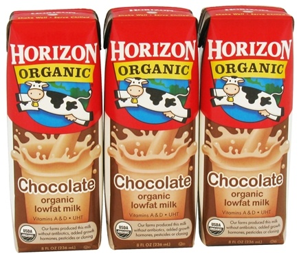 DROPPED: Horizon Organic - Organic Low Fat Milk Box Chocolate - 3 Pack