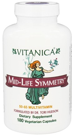 DROPPED: Vitanica - Mid-Life Symmetry - 180 Vegetarian Capsules CLEARANCE PRICED