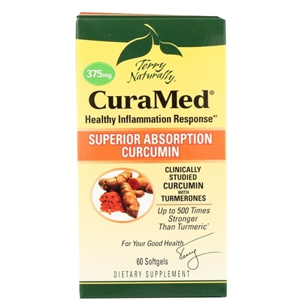 EuroPharma - Terry Naturally CuraMed with BCM-95 375 mg. - 60 Softgels