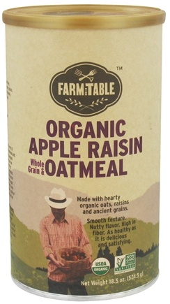 DROPPED: Farm to Table - Organic Whole Grain & Oatmeal Apple Raisin - 18.5 oz. CLEARANCE PRICED
