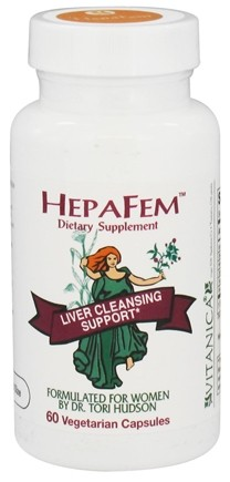 DROPPED: Vitanica - HepaFem Liver Cleansing Support - 60 Vegetarian Capsules CLEARANCE PRICED