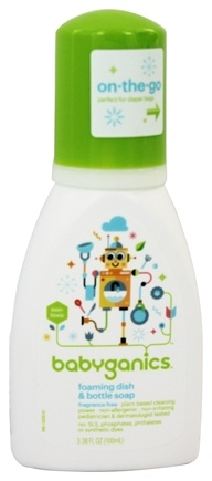 BabyGanics - Foaming Dish & Bottle Soap Fragrance Free - 3.38 oz. Formerly The Dish Dazzler