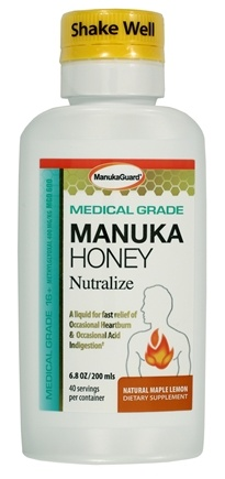 Manuka Guard - Nutralize With Certified Medical Grade Active Manuka Honey Natural Maple Lemon - 7 oz.