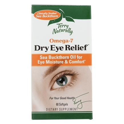 EuroPharma - Terry Naturally Omega7 Eye Relief with SBA 24 - 60 Vegetarian Softgels