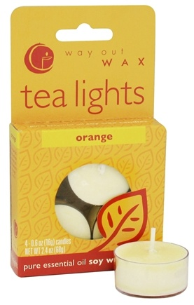 DROPPED: Way Out Wax - Tea Lights Orange - 4 Pack