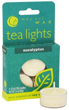 DROPPED: Way Out Wax - Tea Lights Eucalyptus - 4 Pack