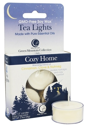 DROPPED: Way Out Wax - Tea Lights Cozy Home - 4 Pack