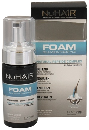 DROPPED: Nu Hair - Foam Rejuvenate & Style Natural Peptide Complex For Men & Women Fresh Scent - 3.4 oz.