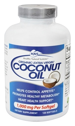 DROPPED: Healthy Natural Systems - Coconut Oil Organic Extra Virgin - 120 Softgels