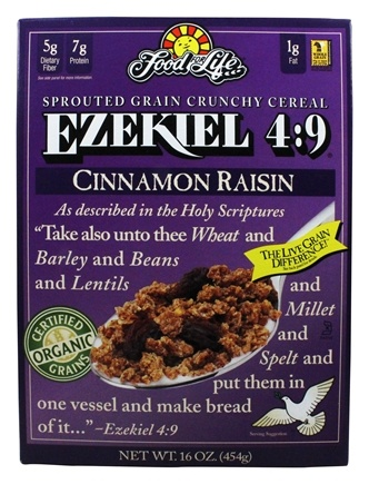 Food For Life - Ezekiel 4:9 Sprouted Whole Grain Cereal Cinnamon Raisin - 16 oz.