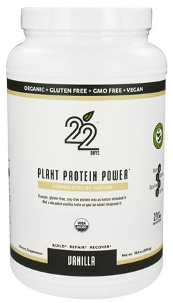 DROPPED: 22 Days Nutrition - Plant Protein Power Vanilla - 28.6 oz. CLEARANCE PRICED