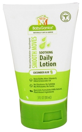 DROPPED: BabyGanics - Daily Lotion Smooth Moves Soothing Cucumber Aloe - 3 oz. CLEARANCED PRICED