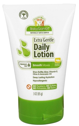 DROPPED: BabyGanics - Daily Lotion Smooth Moves Extra Gentle Fragrance Free - 3 oz. CLEARANCED PRICED