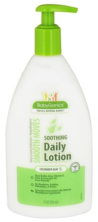 DROPPED: BabyGanics - Daily Lotion Smooth Moves Soothing Cucumber Aloe - 17 oz. CLEARANCED PRICED
