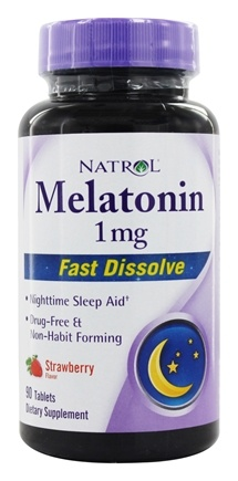 Natrol - Melatonin Fast Dissolve 1 mg. - 90 Tablet(s)