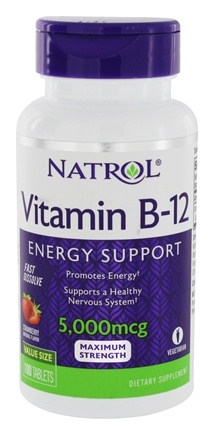 Natrol - Vitamin B-12 Fast Dissolve Strawberry 5000 mcg. - 100 Tablet(s)