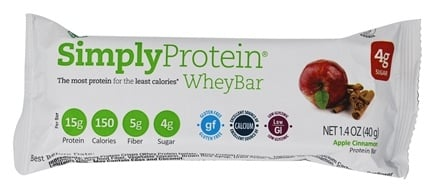 The Simply Bar - Simply Whey Protein Bar Apple Cinnamon - 1.4 oz.