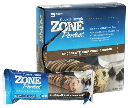 DROPPED: Zone Perfect - All-Natural Nutrition Bar Chocolate Chip Cookie Dough - 6 Bars