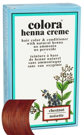 DROPPED: Colora - Henna Creme Hair Color & Conditioner Chestnut - 2 oz. CLEARANCE PRICED
