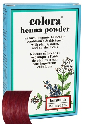 Colora - Henna Powder Natural Organic Hair Color Burgundy - 2 oz.