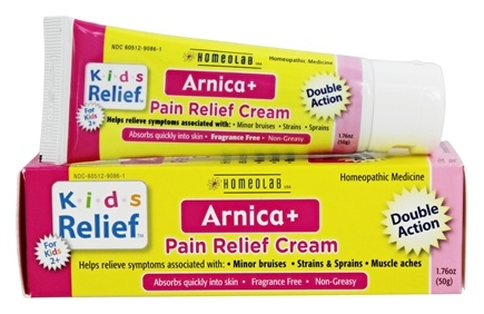 DROPPED: Homeolab USA - Kids Relief Arnica+ Pain Relief Cream - 1.76 oz.