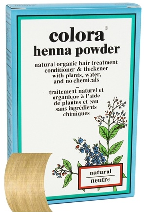 DROPPED: Colora - Henna Powder Natural Organic Hair Color Natural - 2 oz. CLEARANCE PRICED