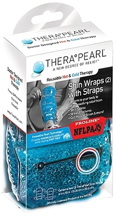DROPPED: TheraPearl - Reusable Hot and Cold Therapy Shin Wraps with Straps -  2 Wraps