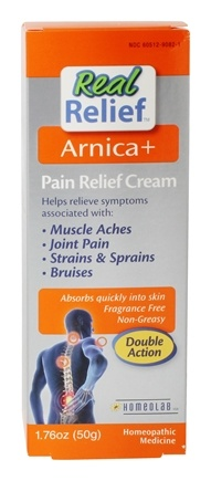DROPPED: Homeolab USA - Real Relief Arnica+ Pain Relief Cream - 1.76 oz. CLEARANCE PRICED