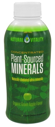 Natural Vitality - Plant-Source Minerals Organic Green Apple - 16 oz.